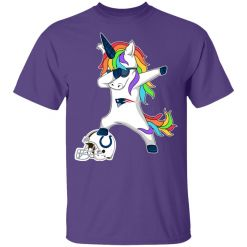 Football Dabbing Unicorn Steps On Helmet New England Patriots Youth's T-Shirt