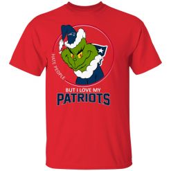 I Hate People But I Love My New England Patriots Grinch NFL Youth's T-Shirt