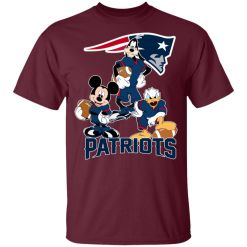 Mickey Donald Goofy The Three New England Patriots Football Youth's T-Shirt