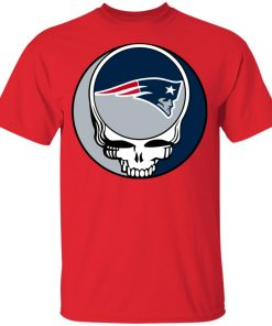 NFL Team New England Patriots x Grateful Dead Logo Band Shirts Youth's T-Shirt