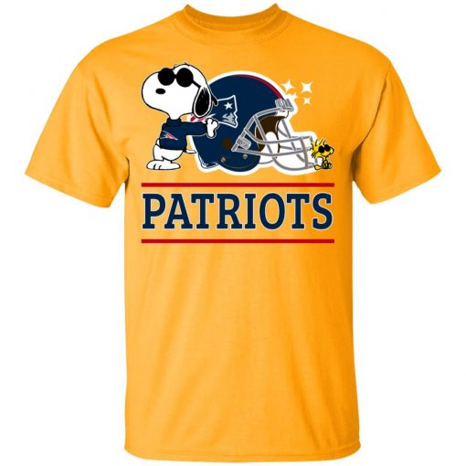 The New England Patriots Joe Cool And Woodstock Snoopy Mashup Youth's T-Shirt