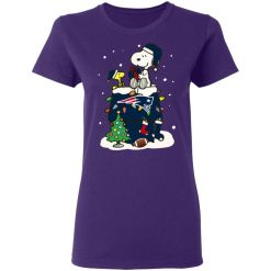 A Happy Christmas With New England Patriots Snoopy Women's T-Shirt