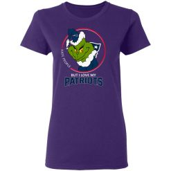 I Hate People But I Love My New England Patriots Grinch NFL Women's T-Shirt