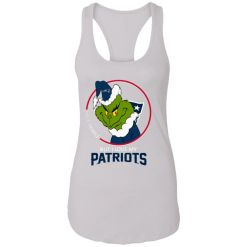 I Hate People But I Love My New England Patriots Grinch NFL Racerback Tank