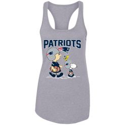 New England Patriots Let's Play Football Together Snoopy NFL Racerback Tank