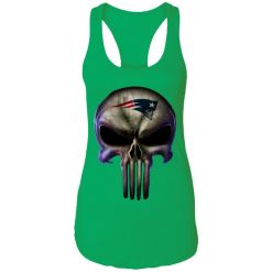 New England Patriots The Punisher Mashup Football Racerback Tank