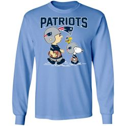 New England Patriots Let's Play Football Together Snoopy NFL LS T-Shirt