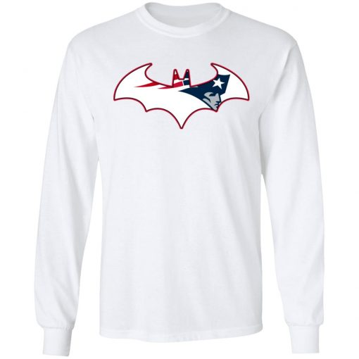 We Are The New England Patriots Batman NFL Mashup LS T-Shirt