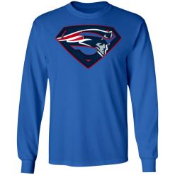 We Are Undefeatable The New England Patriots x Superman NFL LS T-Shirt