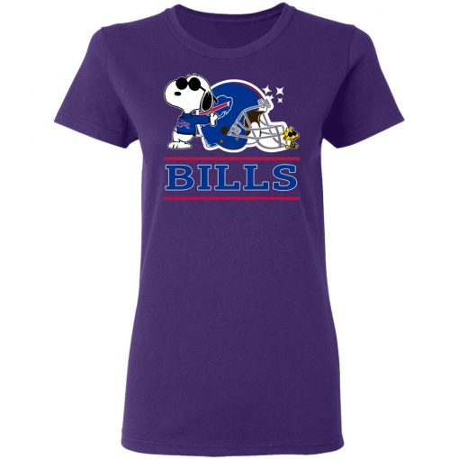 The buffalo Bills Joe Cool And Woodstock Snoopy Mashup Women's T-Shirt