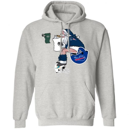 Santa Claus New England Patriots Shit On Other Teams Christmas Hoodie