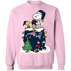 A Happy Christmas With New England Patriots Snoopy Sweatshirt