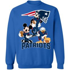Mickey Donald Goofy The Three New England Patriots Football Sweatshirt