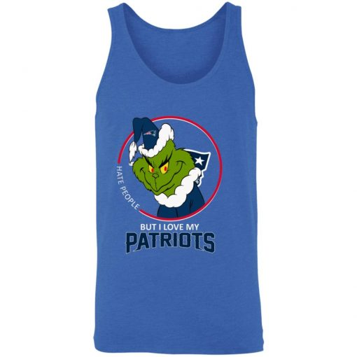 I Hate People But I Love My New England Patriots Grinch NFL Unisex Tank