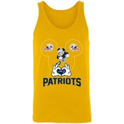 I Love The Patriots Mickey Mouse New England Patriots Unisex Tank