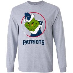 I Hate People But I Love My New England Patriots Grinch NFL Youth LS T-Shirt