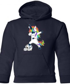 Football Dabbing Unicorn Steps On Helmet New England Patriots Youth Hoodie