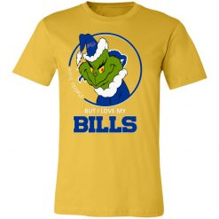 I Hate People But I Love My Buffalo Bills Grinch NFL Unisex Jersey Tee