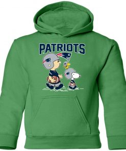 New England Patriots Let's Play Football Together Snoopy NFL Youth Hoodie