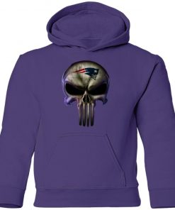 New England Patriots The Punisher Mashup Football Youth Hoodie