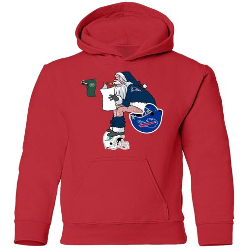 Santa Claus New England Patriots Shit On Other Teams Christmas Youth Hoodie