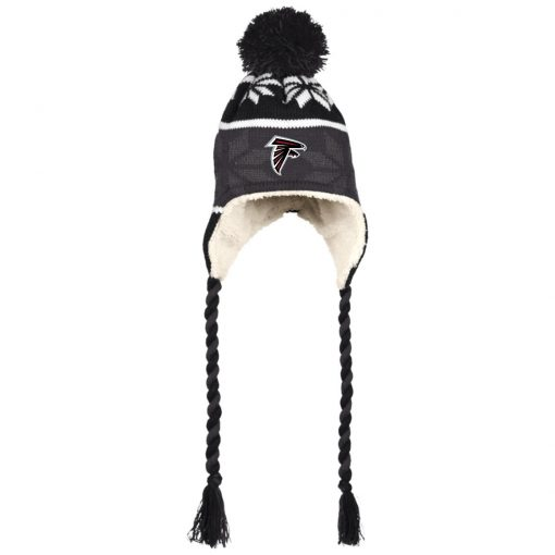 Atlanta Falcons Hat with Ear Flaps and Braids