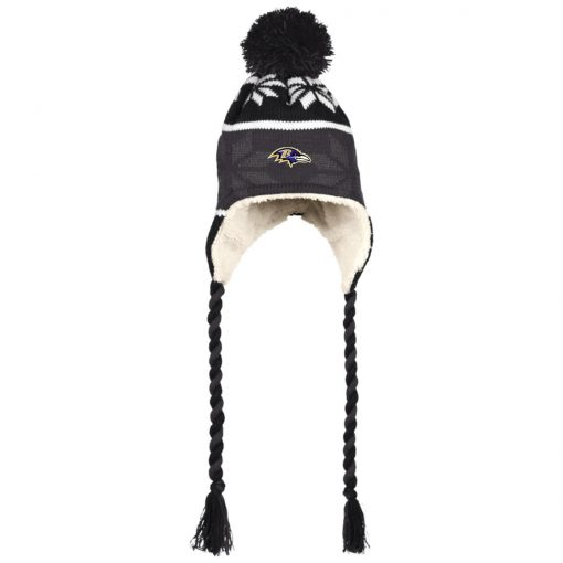 Baltimore Ravens Hat with Ear Flaps and Braids