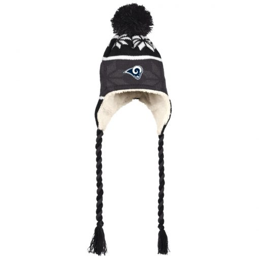 Los Angeles Rams Hat with Ear Flaps and Braids