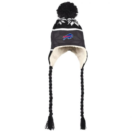 Buffalo Bills Hat with Ear Flaps and Braids