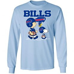 Buffalo Bills Let's Play Football Together Snoopy NFL LS T-Shirt