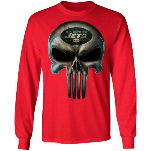 New York Jets The Punisher Mashup Football LS T-Shirt
