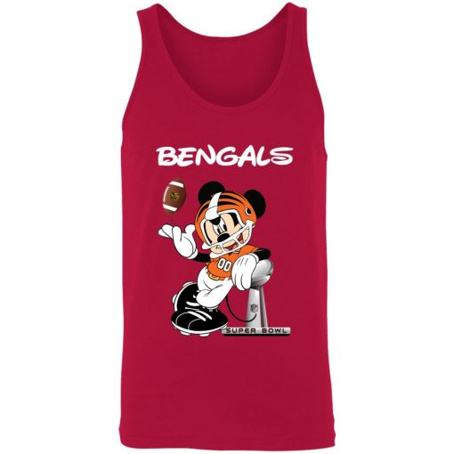 Mickey Bengals Taking The Super Bowl Trophy Football 3480 Unisex Tank