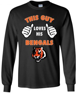 This Guy Loves His Cincinnati Bengals NFL Youth LS T-Shirt