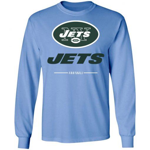 Men's new york jets NFL Pro Line Black Team Lockup LS T-Shirt