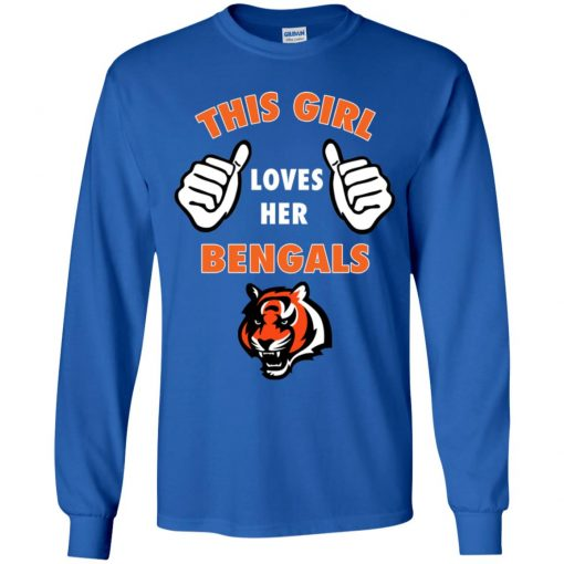 This Girl Loves Her Cincinnati Bengals NFL Youth LS T-Shirt