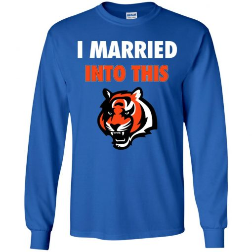 I Married Into This Cincinnati Bengals Football NFL Youth LS T-Shirt