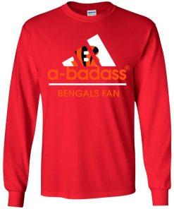 A-Badass Cincinnati Bengals Mashup Adidas NFL Youth LS T-Shirt