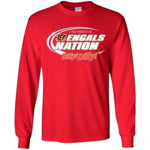 A True Friend Of The Bengals Nation Youth LS T-Shirt