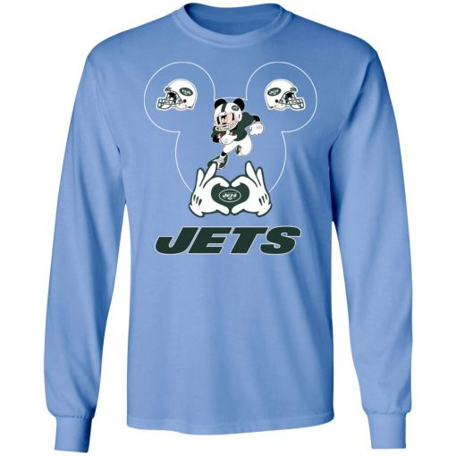 I Love The Jets Mickey Mouse New York Jets LS T-Shirt