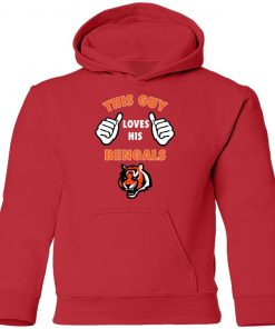 This Guy Loves His Cincinnati Bengals NFL Youth Hoodie