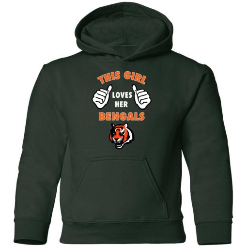 This Girl Loves Her Cincinnati Bengals NFL Youth Hoodie