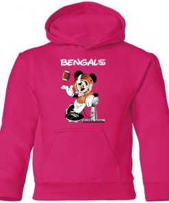 Mickey Bengals Taking The Super Bowl Trophy Football Youth Hoodie