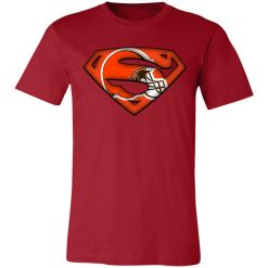 Private: We Are Undefeatable The Cleveland Browns x Superman NFL Unisex Jersey Tee