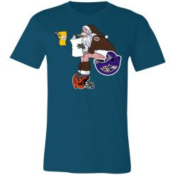 Private: Santa Claus Cleveland Browns Shit On Other Teams Christmas Unisex Jersey Tee