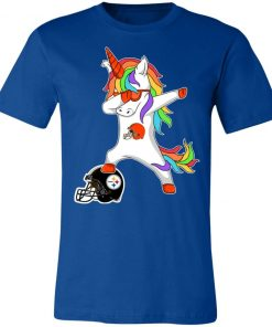 Football Dabbing Unicorn Steps On Helmet Cleveland Browns Unisex Jersey Tee