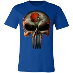 Private: Cleveland Browns The Punisher Mashup Football Unisex Jersey Tee