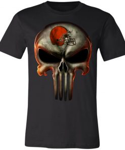 Cleveland Browns The Punisher Mashup Football Unisex Jersey Tee