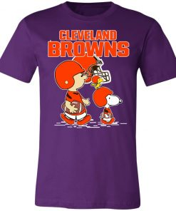 Cleveland Browns Let's Play Football Together Snoopy NFL Unisex Jersey Tee