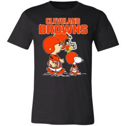 Private: Cleveland Browns Let's Play Football Together Snoopy NFL Unisex Jersey Tee
