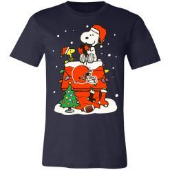 Private: A Happy Christmas With Cleveland Browns Snoopy Unisex Jersey Tee